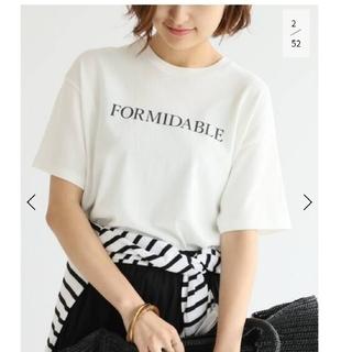 IENA - IENA ロゴプリントtシャツ ホワイト FORMIDABLE