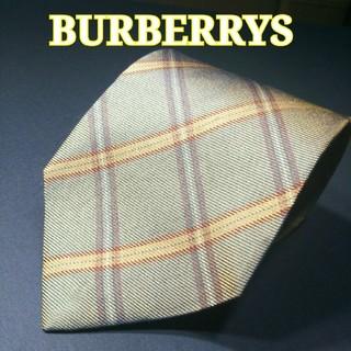 バーバリー(BURBERRY)のBURBERRYS チェック ネクタイ ライトブラウン(ネクタイ)