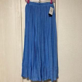 ニッセン - ◆新品未使用◆ ロングスカート 楊柳 ライトブルー 水色 Sサイズ