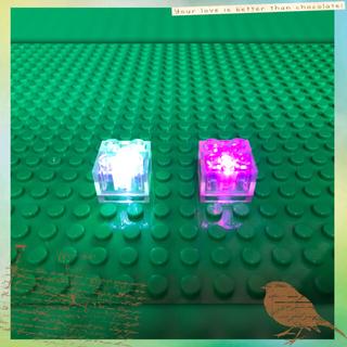 マイクラ レゴ 互換品 LEDライトブロック レインボー 2piece
