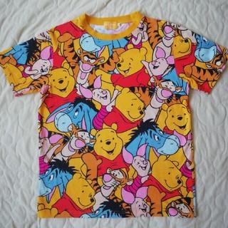 クマノプーサン(くまのプーさん)のディズニーリゾート くまのプーさん総柄TシャツSサイズ(Tシャツ/カットソー(半袖/袖なし))