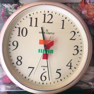CASIO - セブンイレブンロゴ入り店内壁掛け時計☆40年近く前【貴重】