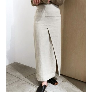 トゥデイフル(TODAYFUL)のtodayful リネンポケットスカート(ロングスカート)