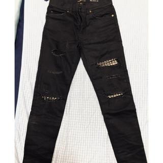 サンローラン(Saint Laurent)の最終値下げ サンローランパリ ブラックデニム パンツ 30 d02(デニム/ジーンズ)