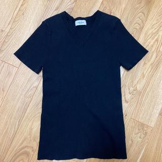 Mila Owen - MilaOwen リブ ニット Tシャツ ブラック 0