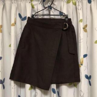GU - GU スカート ミニスカ 台形  服 ブラウン レディース