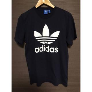 アディダス(adidas)のadidas アディダス 黒 ブラック 半袖 トレフォイル(Tシャツ/カットソー(半袖/袖なし))