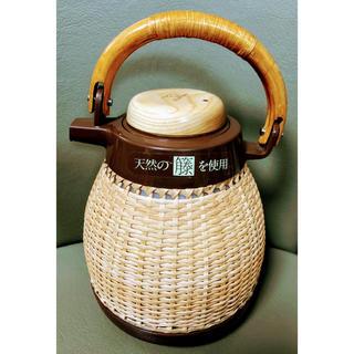 ゾウジルシ(象印)の昭和レトロ⭐天然籐編み 象印 保温ポット 魔法瓶 1.02L VGT-1000 (容器)