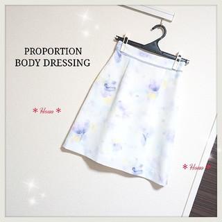PROPORTION BODY DRESSING - PROPORTION BODY DRESSING*ぼかしフラワースカート