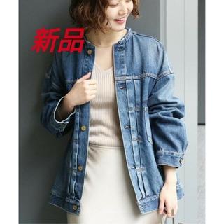 イエナ(IENA)のR3さん専用‼️新品タグ付🌼リメイクルーズデニムブルゾン 36 ブルー(Gジャン/デニムジャケット)