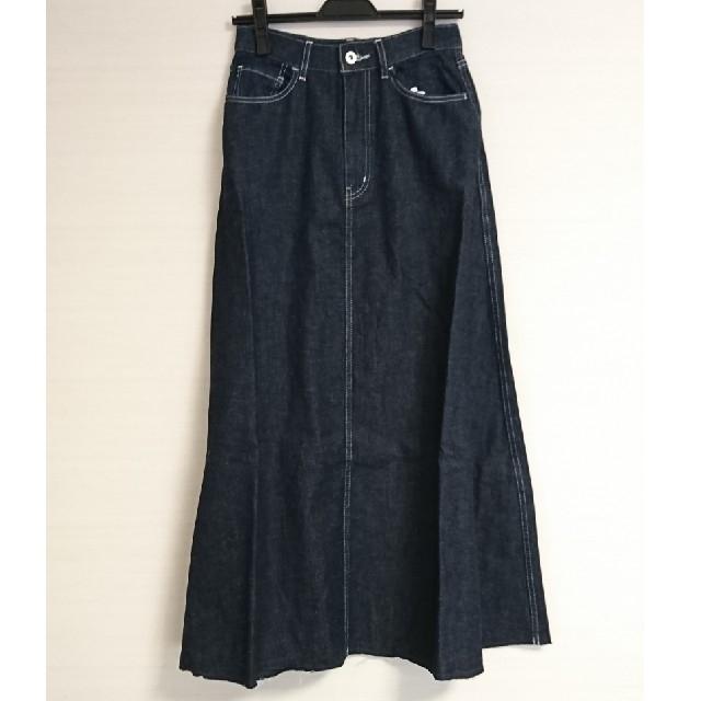 URBAN RESEARCH(アーバンリサーチ)の新品 アーバンリサーチ 綿麻デニム Aライン ロングスカート レディースのスカート(ロングスカート)の商品写真