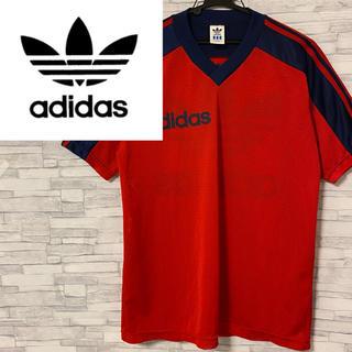 アディダス(adidas)の90s デサント製 アディダス Tシャツ メッシュシャツ 後面デカロゴ(Tシャツ/カットソー(半袖/袖なし))