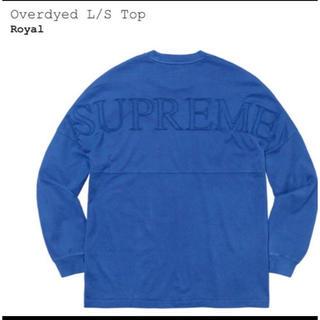 シュプリーム(Supreme)の XL★supreme overdyed l/s top ★ (Tシャツ/カットソー(七分/長袖))