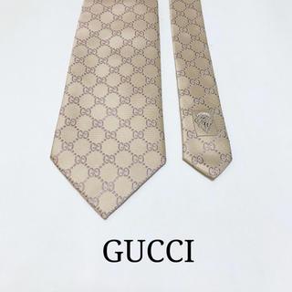 Gucci - ☆未使用品☆グッチ GG柄 ネクタイ(艶感あり、アイボリー)
