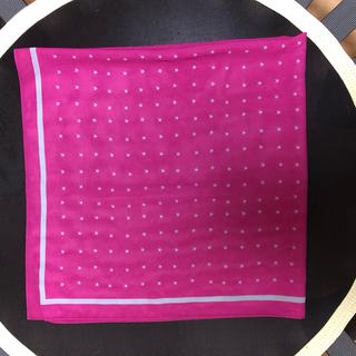 ピーピーエフエム(PPFM)のPPFM ピンク×グレー 星柄正方形ストール (ストール)