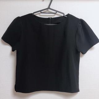 moussy - moussy 立体スリーブ パフスリーブ マウジー トップス  Tシャツ 黒