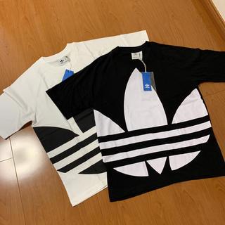 アディダス(adidas)の新品 アディダスオリジナルス ビッグロゴ ビッグトレフォイル   2枚セット(Tシャツ/カットソー(半袖/袖なし))