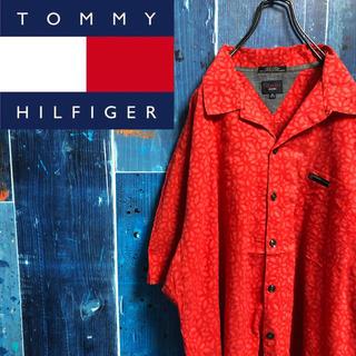 TOMMY HILFIGER - 【トミージーンズ】ロゴタグ入り総柄アロハオープンカラーシャツ
