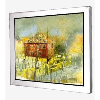 7-ピーター・ドイグ red house キャンバスアート 模写(ウェルカムボード)