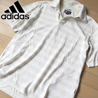 アディダス(adidas)の美品 Sサイズ アディダスゴルフ メンズ 半袖ポロシャツ ベージュ(ウエア)