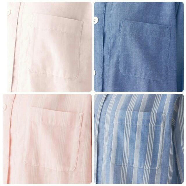 MUJI (無印良品)(ムジルシリョウヒン)の新品 無印良品脇に縫い目のない細番手二重ガーゼ七分袖パジャマ レディースのルームウェア/パジャマ(パジャマ)の商品写真