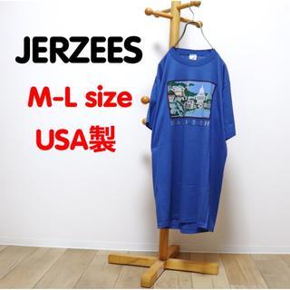 Santa Monica - OLD USED 古着 ジャージーズ Tシャツ マディソン レトロ ブルー レア