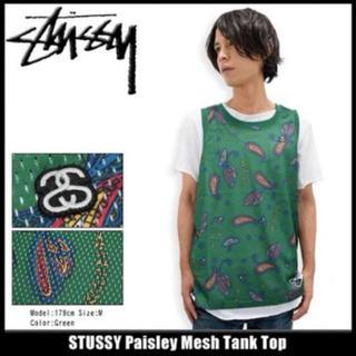 STUSSY - セール価格 stussy ペイズリー メッシュ バスケットボール タンクトップ