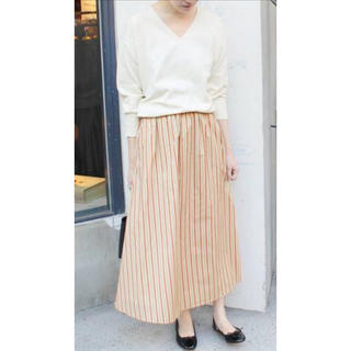 イエナスローブ(IENA SLOBE)のストライプスカート(ひざ丈スカート)
