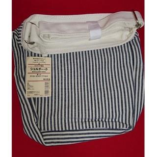 ムジルシリョウヒン(MUJI (無印良品))の無印良品 帆布ストライプ ショルダーバッグ お散歩バッグ(ショルダーバッグ)