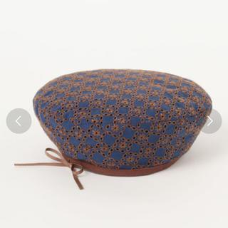 BEAMS - BEAMS コットンレースベレー帽  リボン サマー 新品未使用