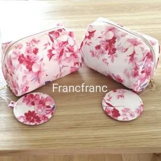 フランフラン(Francfranc)の[ 新品 ] Francfranc リリーポーチ2個セット(ポーチ)