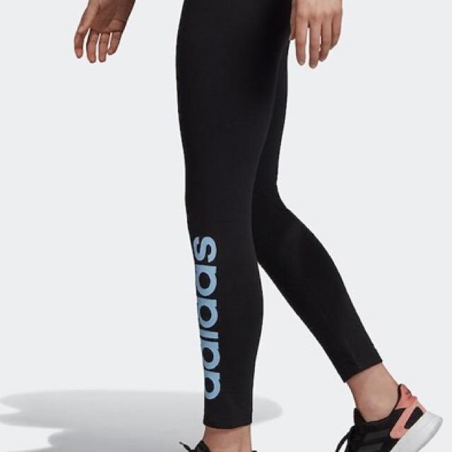 adidas(アディダス)のアディダス  リニアロゴ レギンス タイツ サイズM  レディースのレッグウェア(レギンス/スパッツ)の商品写真