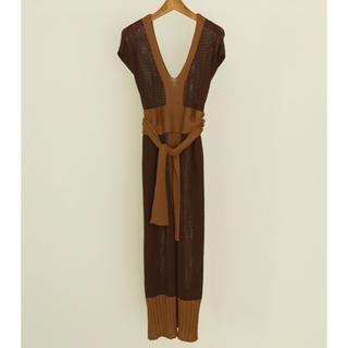 トゥデイフル(TODAYFUL)のTODAYFUL Mesh Tie Dress 36 チョコ(その他)