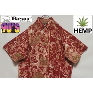 ベアー(Bear USA)の94 BEAR ベアー ヘンプ ハーフボタン アロハシャツ(シャツ)