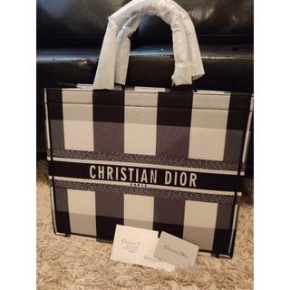Christian Dior - CHRISTIAN DIOR チェック柄 ブックトートバッグ2019AW