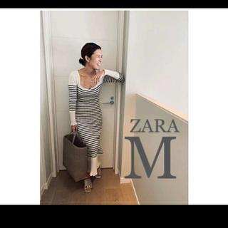 ZARA - 【新品・未使用】ZARA ボーダー ニット ワンピース M