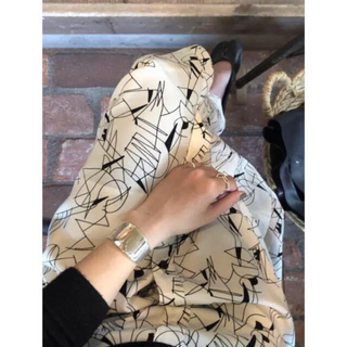 BEAUTY&YOUTH UNITED ARROWS - 6  roku line print skirt RIM.ARK  moussy