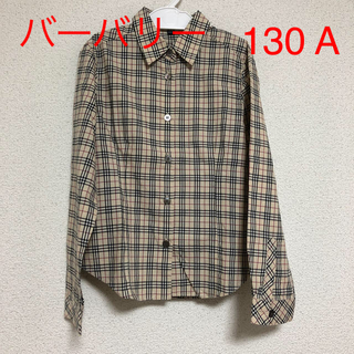 BURBERRY - バーバリーロンドン キッズチェックシャツ Yシャツ サイズ130A A17#55