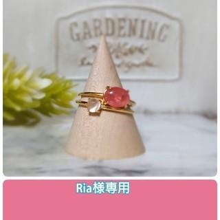 天然石AAAインカローズのリング、指輪、silver925ゴールド(リング)