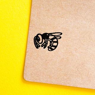 スズメバチ・ けしごむハンコ ・ 20mmのシリーズ(はんこ)