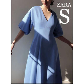 ZARA - 【新品・未使用】ZARA リネン混 ボリューム ワンピース S