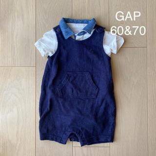 GAP - GAP ベビー服 ロンパース ポロシャツ 白 ネイビー 韓国こども服 男の子