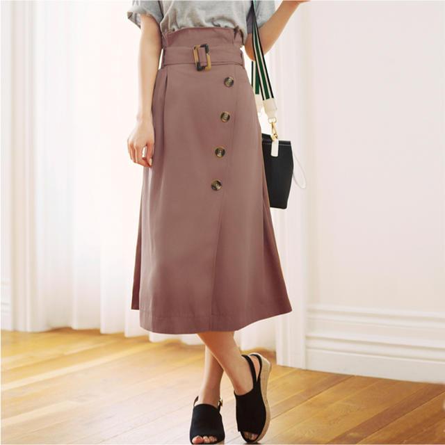 GRL(グレイル)のGRL ベルト付きラップデザインボタンスカート レディースのスカート(ロングスカート)の商品写真