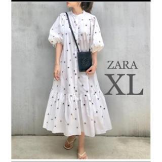 ZARA - 【新品・未使用】ZARA 刺繍入り ワンピース XL