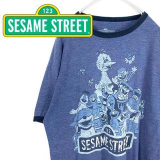 セサミストリート(SESAME STREET)の夏最終セール‼️US古着☆メキシコ製【セサミストリート】Tシャツ 半袖 杢ブルー(Tシャツ/カットソー(半袖/袖なし))