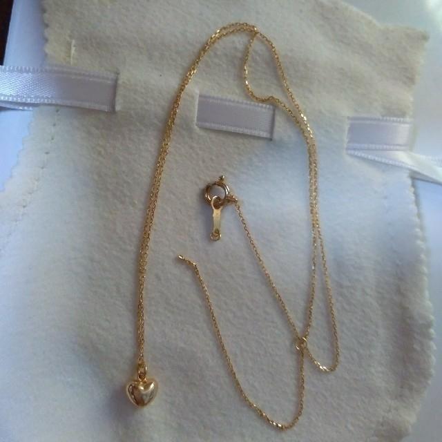 K18 ゴールド ハート ネックレス レディースのアクセサリー(ネックレス)の商品写真