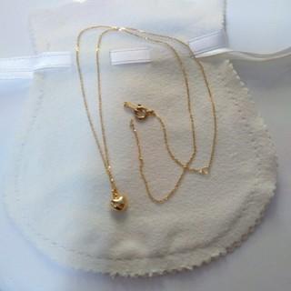 K18 ゴールド ハート ネックレス
