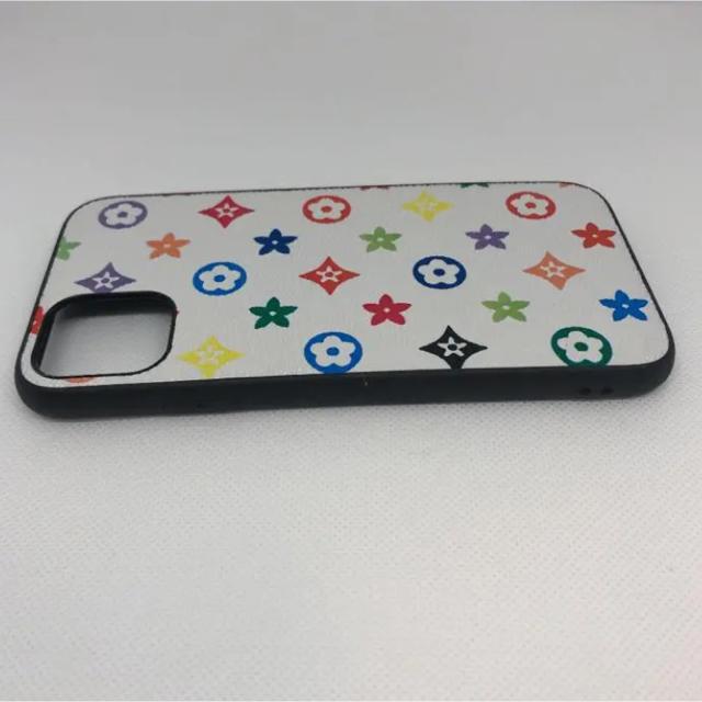 iPhone11 ケース ホワイト モノグラム柄 スマホ/家電/カメラのスマホアクセサリー(iPhoneケース)の商品写真