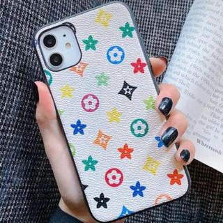 iPhone11 ケース ホワイト モノグラム柄