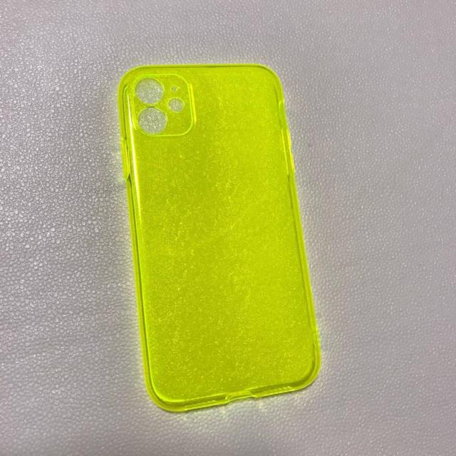♥大人気♥︎カラフル シンプル iPhoneケース 11proイエロー 透明 スマホ/家電/カメラのスマホアクセサリー(iPhoneケース)の商品写真